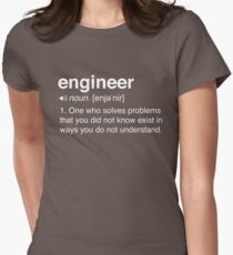Funny Engineer Definition Womens Fitted T-Shirt