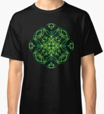 .Green Celtic Cross & Clover Sacred Geometry Energy Mandala Classic T-Shirt