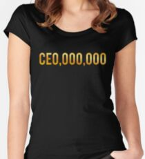 CEO Shirts Entrepreneur Business Women's Fitted Scoop T-Shirt