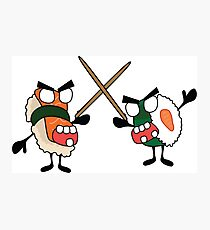 angry dueling zombie sushi Photographic Print