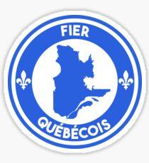 Fier Québécois Sticker