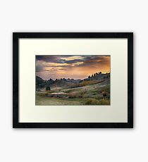 Sunset in the Bear Paws, Montana Framed Print