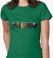 Doctor Who - 13 Doctors lineup Womens Fitted T-Shirt
