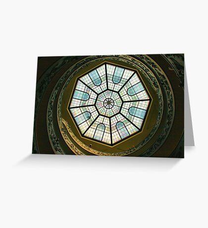 Vatican Museum Stairway, Looking UP Greeting Card