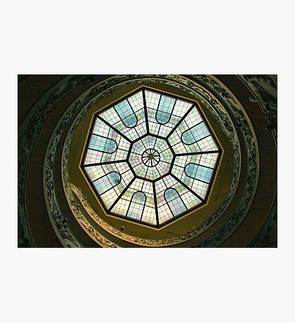 Vatican Museum Stairway, Looking UP Photographic Print