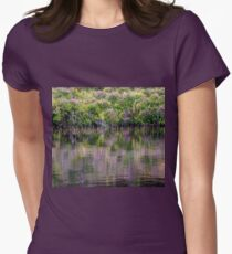 Monet's Heather Womens Fitted T-Shirt
