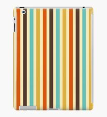 Vertical Stripes Retro Colors Blue Yellow Red iPad Case/Skin