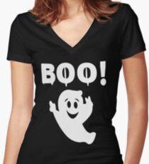 halloween Women's Fitted V-Neck T-Shirt