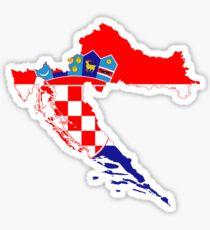 Croatia Flag Map Sticker