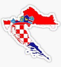 Croatia Flag Map Sticker
