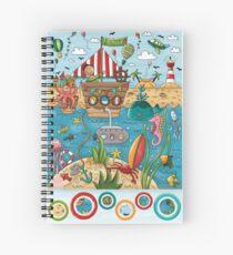 Wimmelbild Luft. Land. Wasser. Spiral Notebook