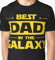 Best Dad in Galaxy Graphic T-Shirt