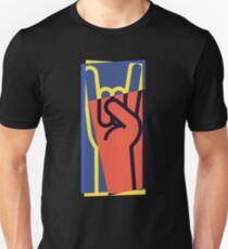 Metal Hand Horns Pop Art T-Shirt