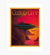 Cloud City Retro Travel Poster Art Print