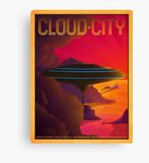 Cloud City Retro Travel Poster Canvas Print