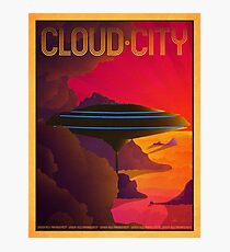 Cloud City Retro Travel Poster Photographic Print