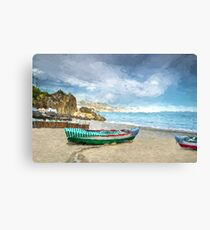 Beach of Nerja, southern Spain Canvas Print