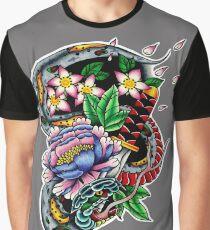 Snake and Wakizashi Graphic T-Shirt