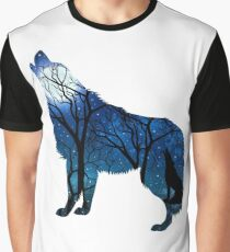 Howling Wild Wolf Graphic T-Shirt