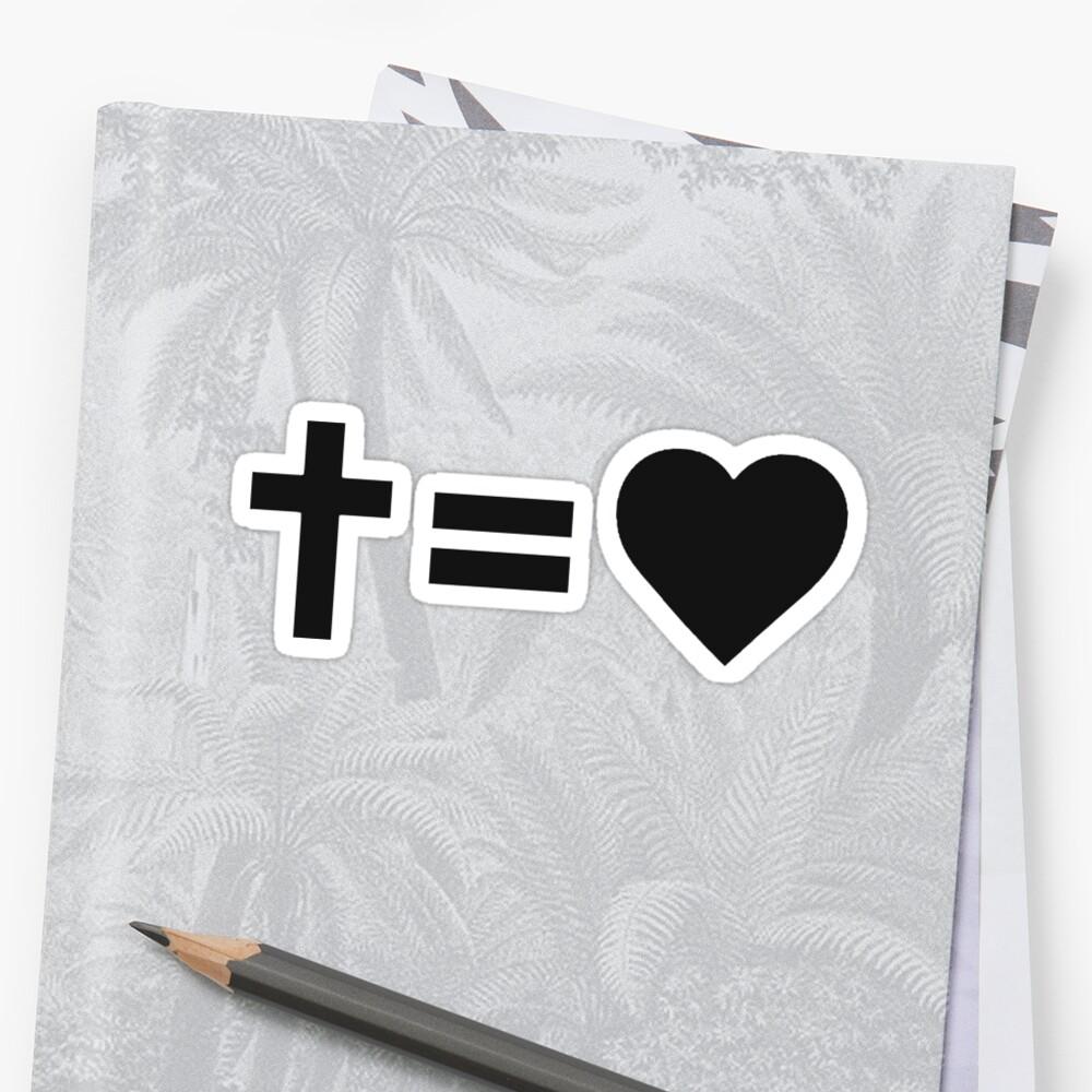 Christliches Symbol Sticker