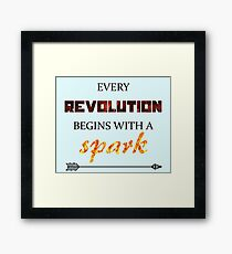 The Hunger Games - Spark Framed Print
