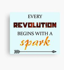 The Hunger Games - Spark  Canvas Print