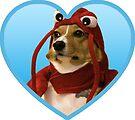 Doggo Stickers: Lobster Corgi (Blue) by Elisecv