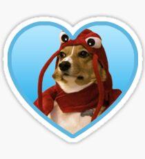 Doggo Stickers: Lobster Corgi (Blue) Sticker