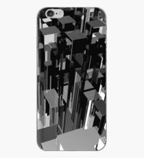 Abstract black and white city concept. 3d illustration. iPhone Case