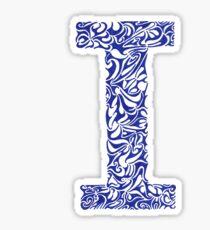 Margin I Letter Sticker