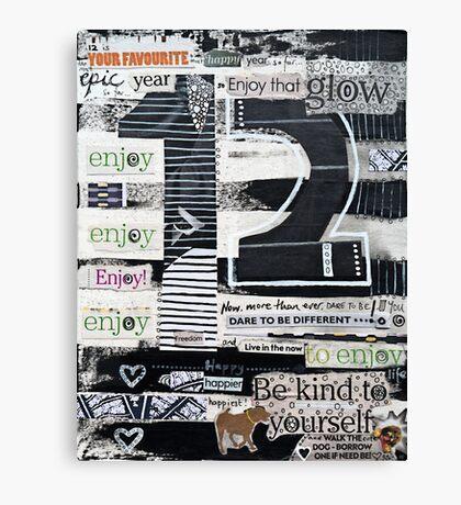 12 - Epic, Happy, Enjoy! Canvas Print