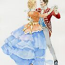 The couple is dancing at the ball by Natalya   Tabatchikova
