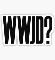 WWJD ? Sticker