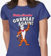 Make America GRRREAT AGAIN! - Trump the Tiger Women's Fitted T-Shirt