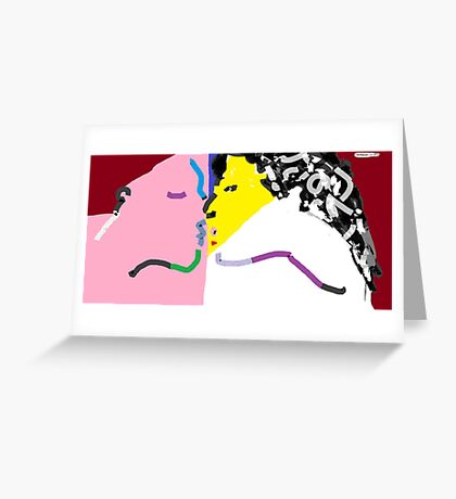 Two Kiss 01 -(270916)- Digital artwork: MS Paint/Mouse drawn Greeting Card