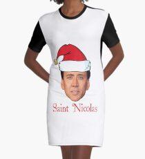 Saint Nicolas Cage Weihnachten T-Shirt Kleid