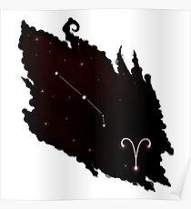 Widder Sternzeichen Constellation Poster