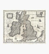 Vintage Map of England and Ireland (1631)  Fotodruck