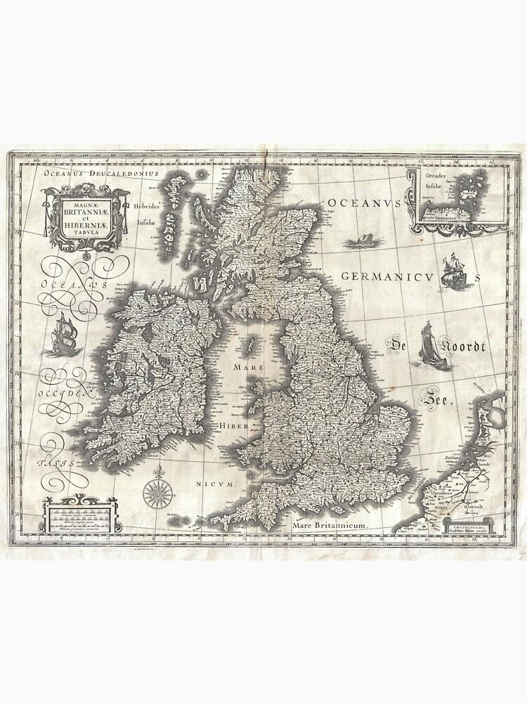 Vintage Map of England and Ireland (1631)  von BravuraMedia