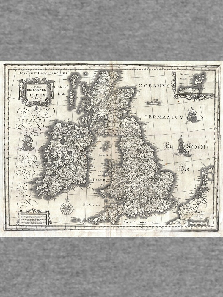 Vintage Map of England and Ireland (1631)  von BravuraMedia