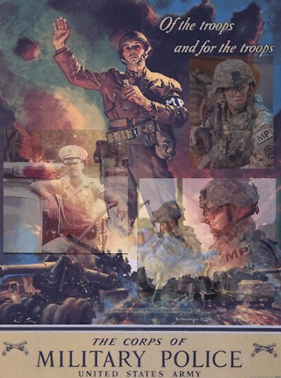 'U S Army Military Police 75th Anniversary Art ' Poster by DolphinApparel