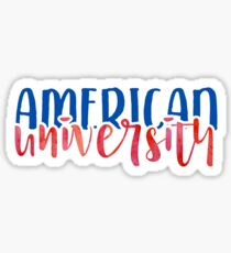American University - Style 1 Sticker