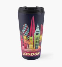 Modern colorful skyline of London Travel Mug