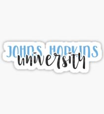 Johns Hopkins University - Style 1 Sticker