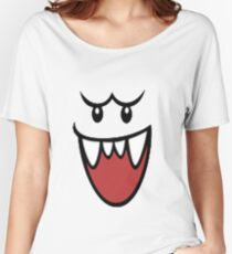 Super Mario Bros Boo Face Women's Relaxed Fit T-Shirt