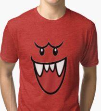 Super Mario Bros Boo Face Tri-blend T-Shirt