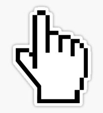 1 Finger Click Hand Pointer Cursor Sticker