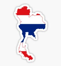 Thailand Flag Map Sticker