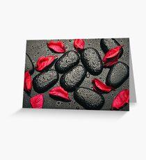 Schwarz-rote Liebe Greeting Card