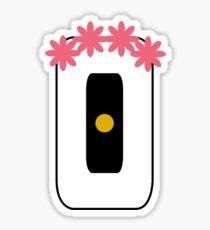 GLaDOS with Flower Crown Sticker